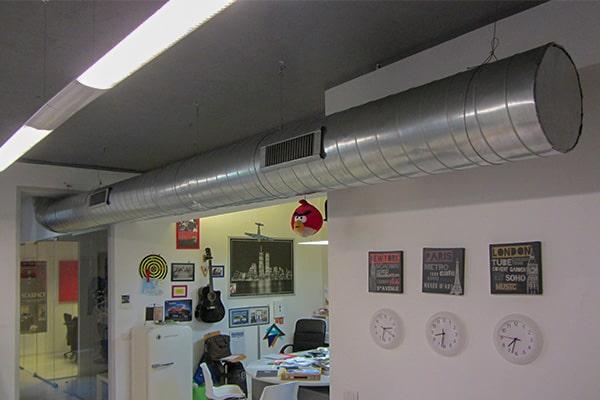 impianto di climatizzazione esterno